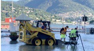 Como, esonda il lago: strade allagate, 100 evacuati. Albergo travolto dal fango