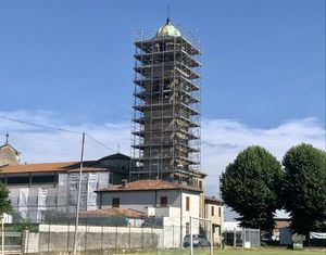 Sarmato, partito il restauro del campanile grazie alle offerte dei parrocchiani - Libertà Piacenza
