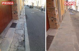 Altre due vie sistemate: nuovi marciapiedi in via Neve e via Mignone - Libertà Piacenza