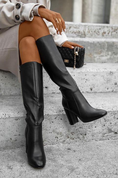 Μπότες Γονάτου - Μαύρο