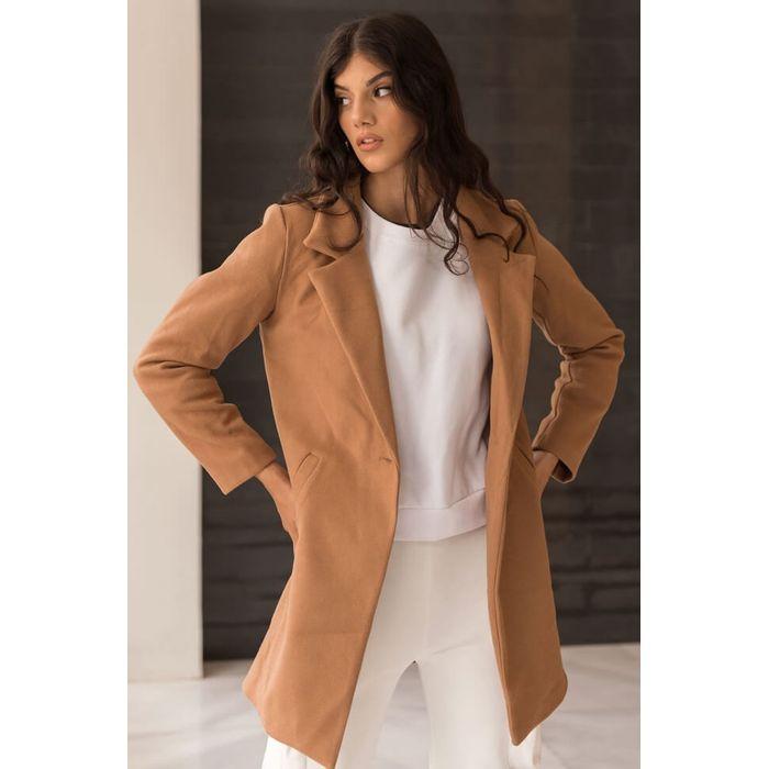Παλτό με Τσέπες - Κάμελ