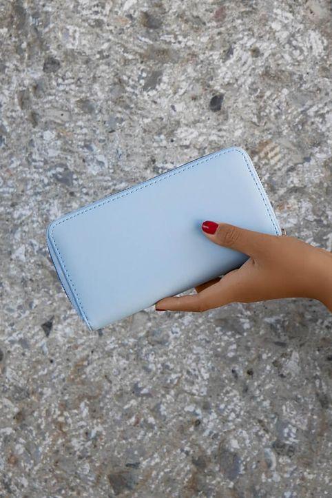 Πορτοφόλι Μονόχρωμο - Γαλάζιο