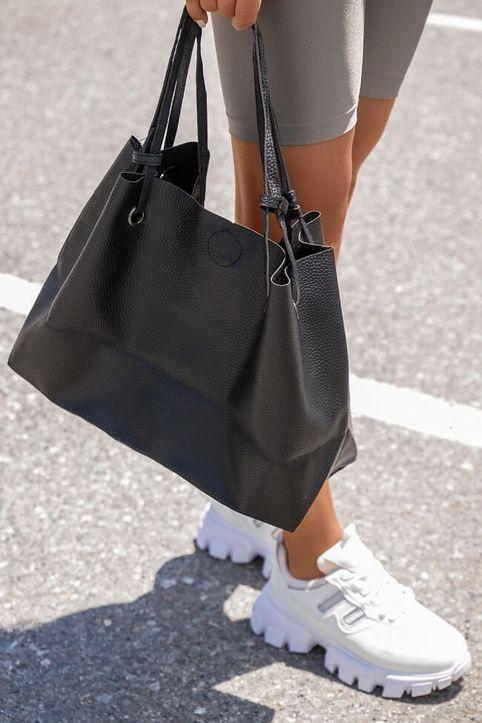 Τσάντα Ώμου με Πορτοφόλι - Μαύρο