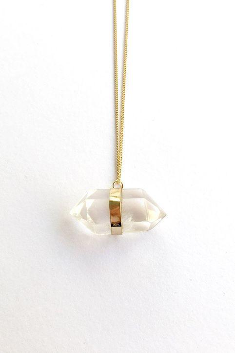 Crystal Κολιέ - Χρυσό
