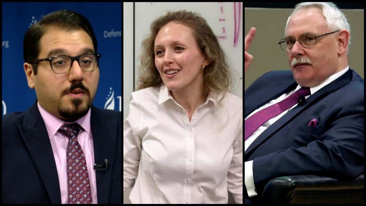 Iran experts: From left to right: Behnam Ben Taleblu, Priscilla Moriuchi, Nomran Roule