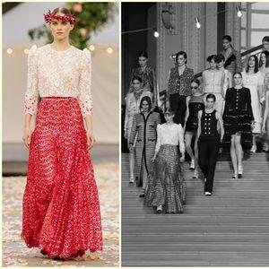 Сватба с дантела и пролетни багри от Chanel Couture