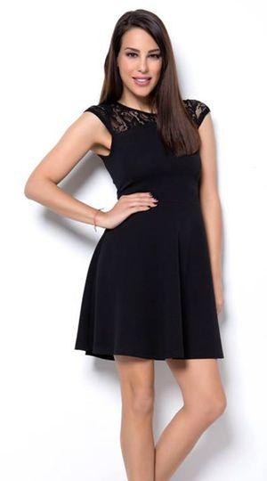 Μίνι cocktail φόρεμα με λαιμό και πλάτη δαντέλα - OEM - SP18CM-51014