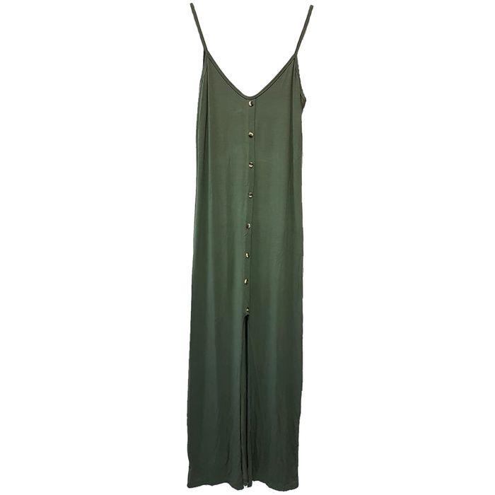 Maxi φόρεμα με κουμπιά και σκήσιμο - MissReina - SS18SOF-59481