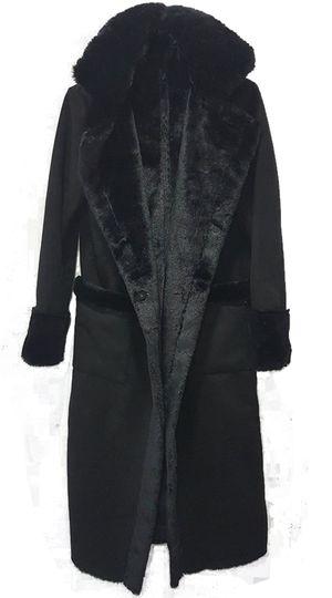 Γυναικείο παλτό σουέντ με επένδυση γούνας Russ elegance - OEM - 9W18SOF-44910102