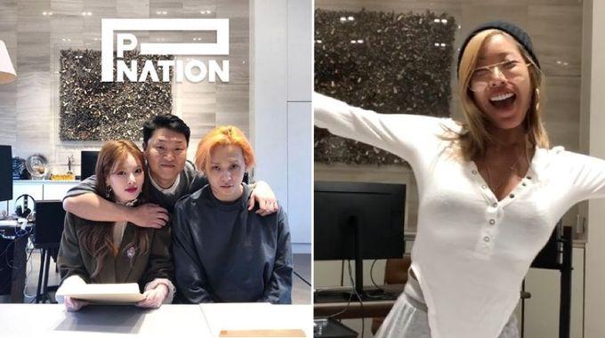 [Kpop] 告別自由身  泫雅和E'Dawn簽約PSY旗下新公司