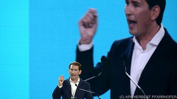 Sebastian Kurz als ÖVP-Chef fulminant bestätigt