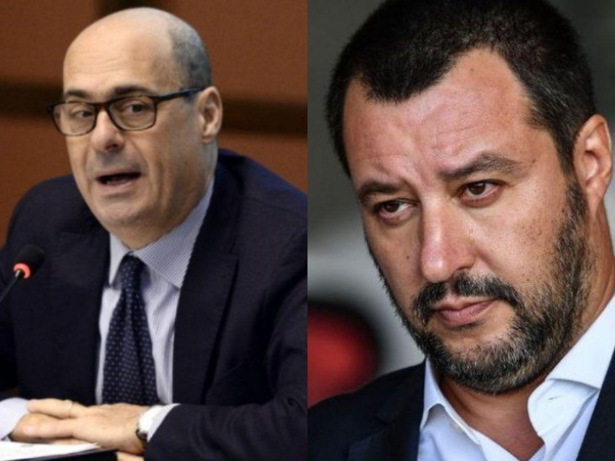 """Matteo Salvini definisce Nicola Zingaretti cret """" poi ritira 'aggettivo"""