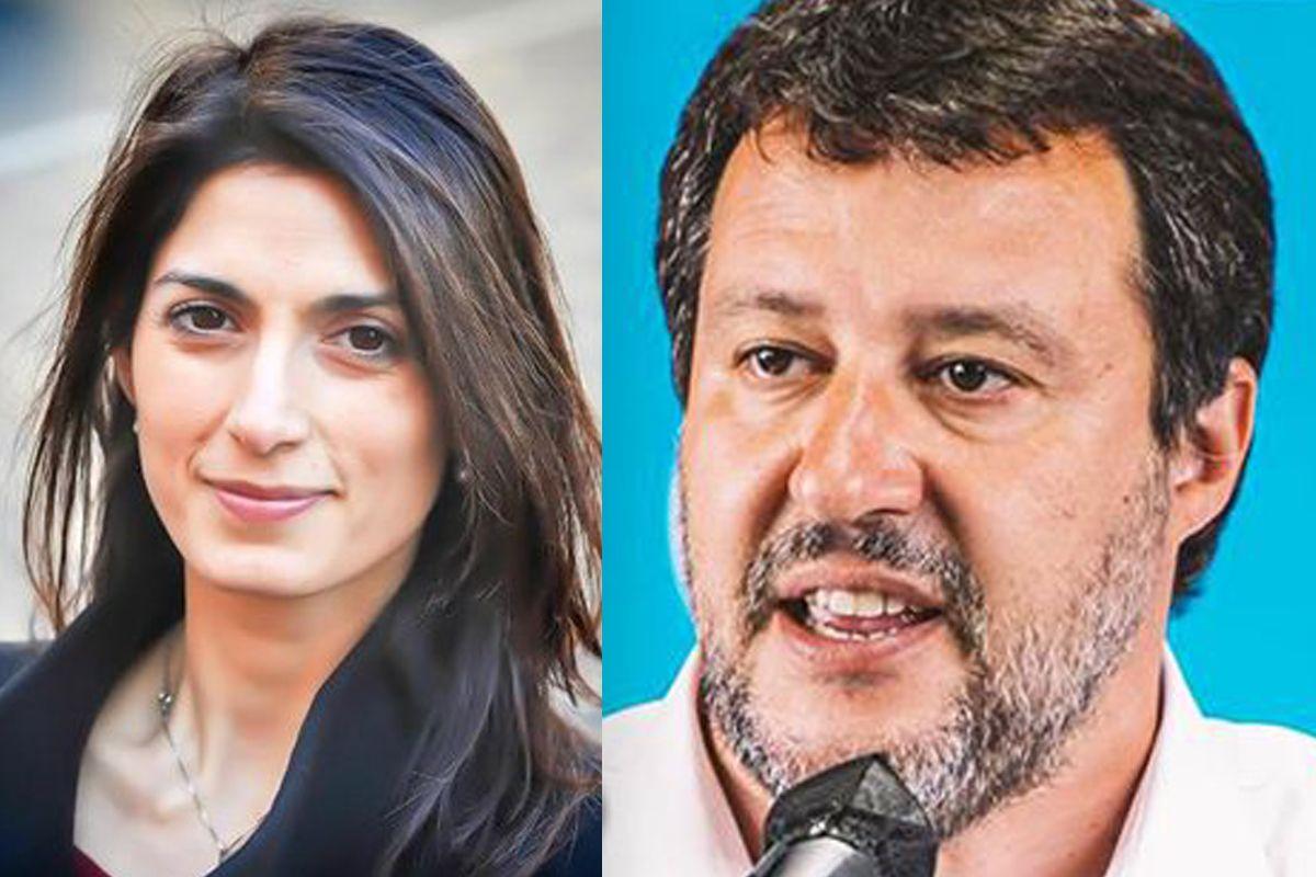 Salvini contro Raggi replica della sindaca