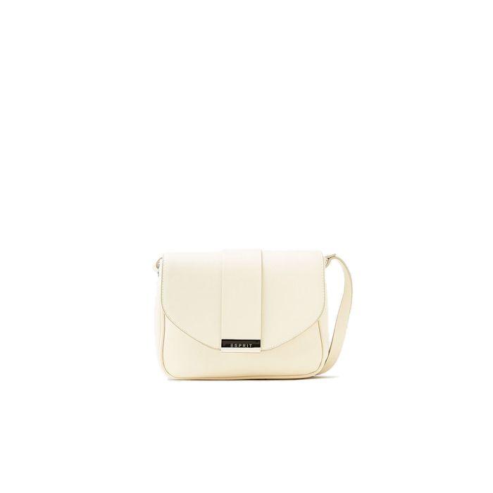 Γυναικεία τσάντα ώμου σε ματ faux δέρμα Esprit - 038EA1O022 - Κρέμ