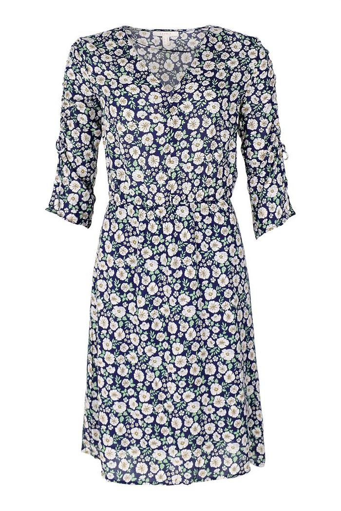 Εsprit γυναικείο φόρεμα floral με μανίκια 3/4 - 039EE1E040 - Μπλε Σκούρο