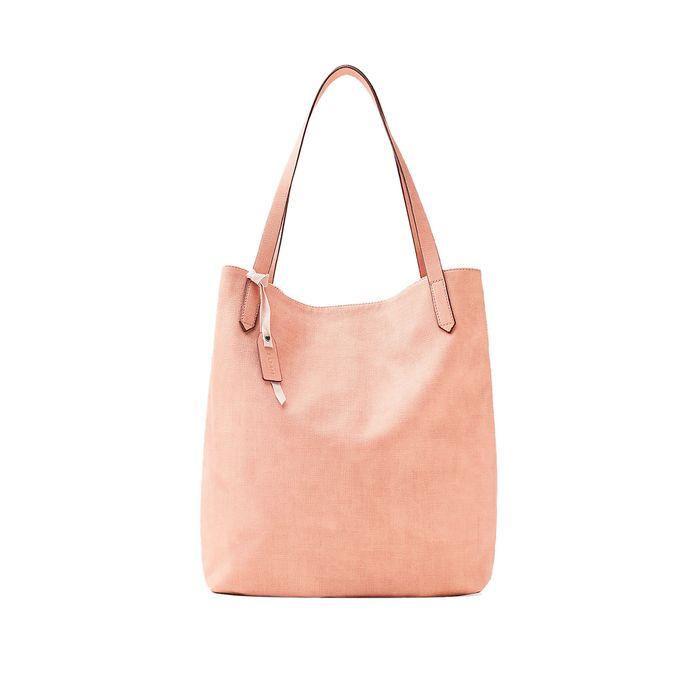 Γυναικεία τσάντα ώμου Faux leather classic shopper Esprit - 048EA1O022 - Nude
