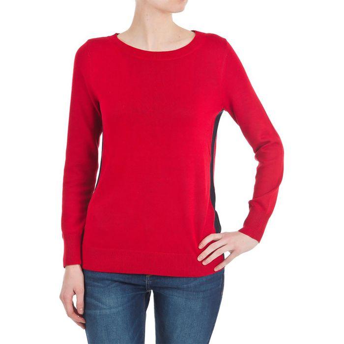Esprit γυναικεία πλεκτή με ρίγα στο πλάι - 128EE1I021 - Κόκκινο