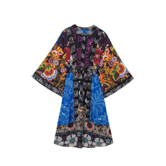 Γυναικείο floral φόρεμα Macarena Desigual - 18SWVWAR - Πολύχρωμο