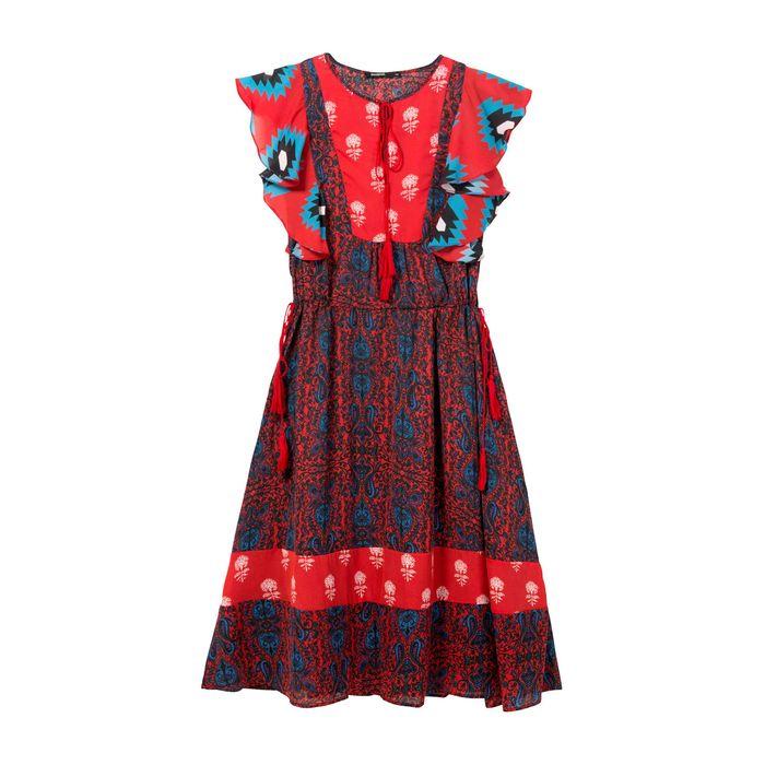 Γυναικείο φόρεμα Sigrid Desigual - 18SWVWEA - Πολύχρωμο