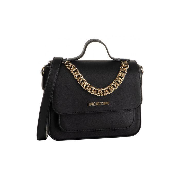 Love Moschino γυναικεία τσάντα crossbody με διακοσμητική αλυσίδα - JC4046PP18LE0 - Μαύρο