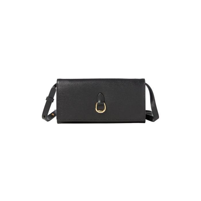 Lauren Ralph Lauren γυναικεία τσάντα crossbody δερμάτινη - 431709358 - Μαύρο
