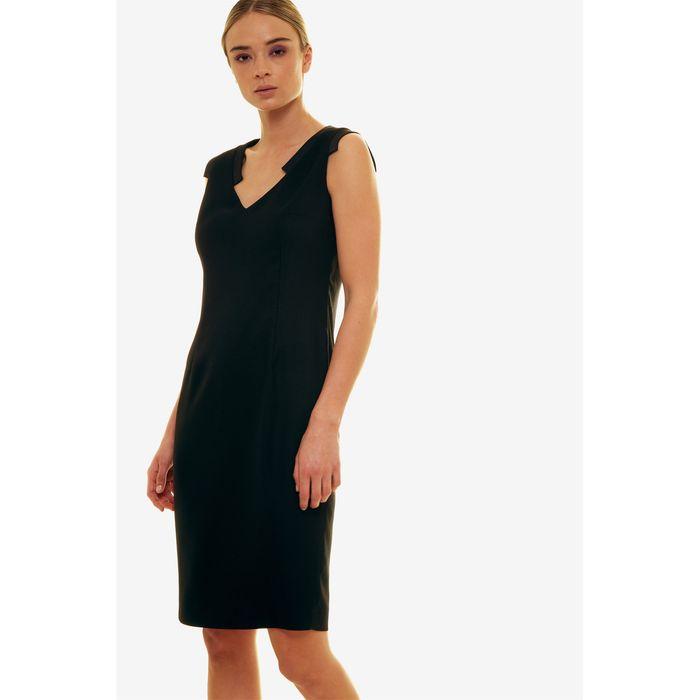 Jupe γυναικείο φόρεμα αμάνικο σε ίσια γραμμή - 21.191.J05.028 - Μαύρο