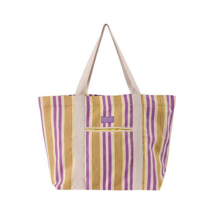 Funky Buddha γυναικεία τσάντα παραλίας με ρίγες - FBL003-127-10 - Πορτοκαλί