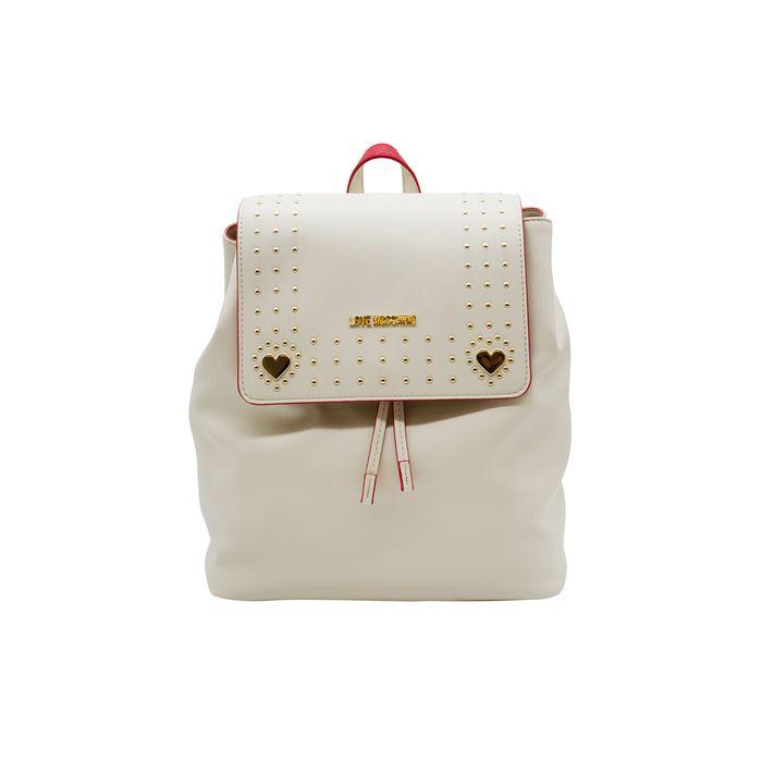 Love Moschino γυναικείο backpack με διακοσμητικά τρουκς - JC4301PP07KQ1 - Εκρού