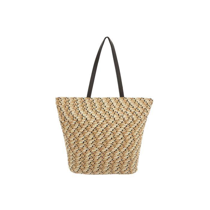 Coincasa γυναικεία τσάντα θαλάσσης ψάθινη 40 χ 50 cm - 007093570 - Μπεζ