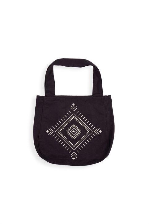 NEF-NEF γυναικεία τσάντα παραλίας με print ''Interior'' - 028570 - Μαύρο
