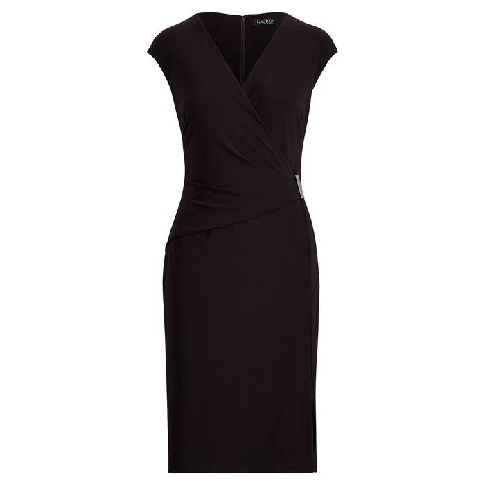 Lauren Ralph Lauren γυναικείο φόρεμα Cap-Sleeve Jersey Dress Black - 250709677001 - Μαύρο