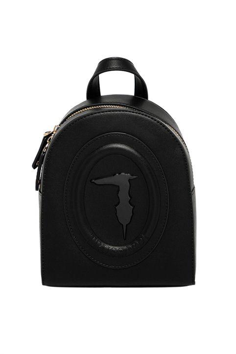 Trussardi Jeans γυναικείο backpack με ανάγλυφο λογότυπο - 75B01121-9Y099995 - Μαύρο