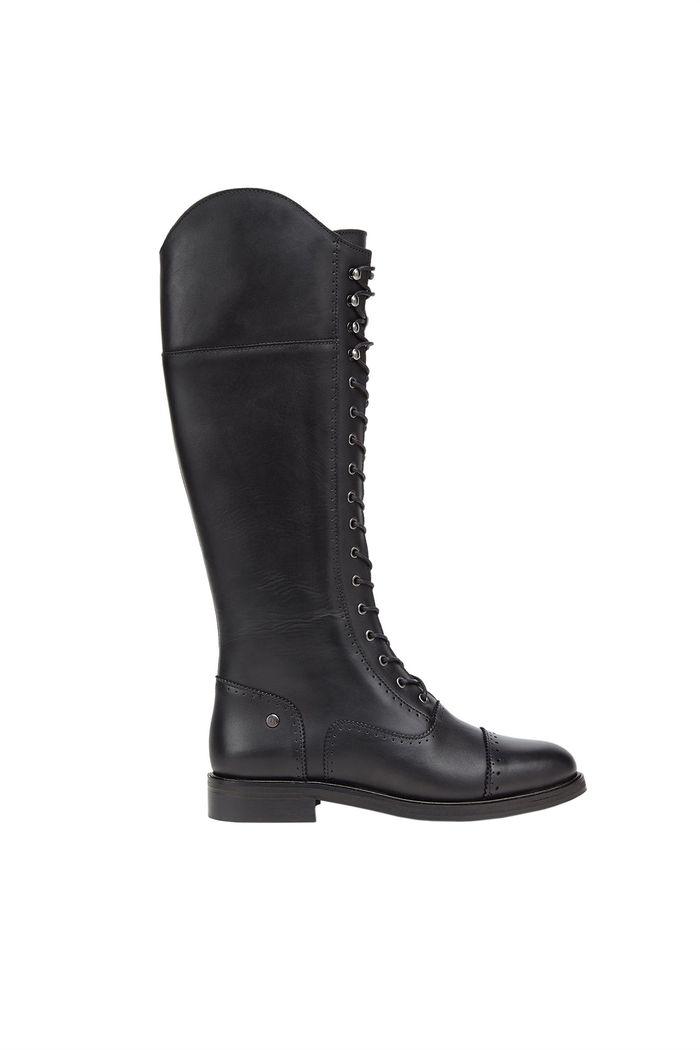 Trussardi Jeans γυναικεία μπότα με κορδόνια - 79A00270-9Y099999 - Μαύρο