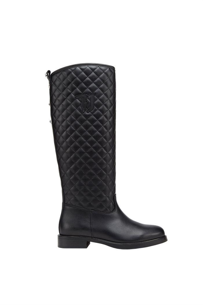 Trussardi Jeans γυναικεία μπότα καπιτονέ - 79A00271-9Y099999 - Μαύρο
