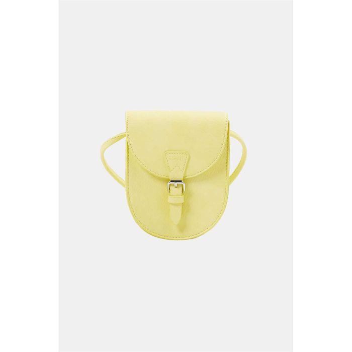 Esprit γυναικεία τσάντα crossbody με flap κλείσιμο και μεταλλική αγκράφα - 040EA1O328 - Κίτρινο