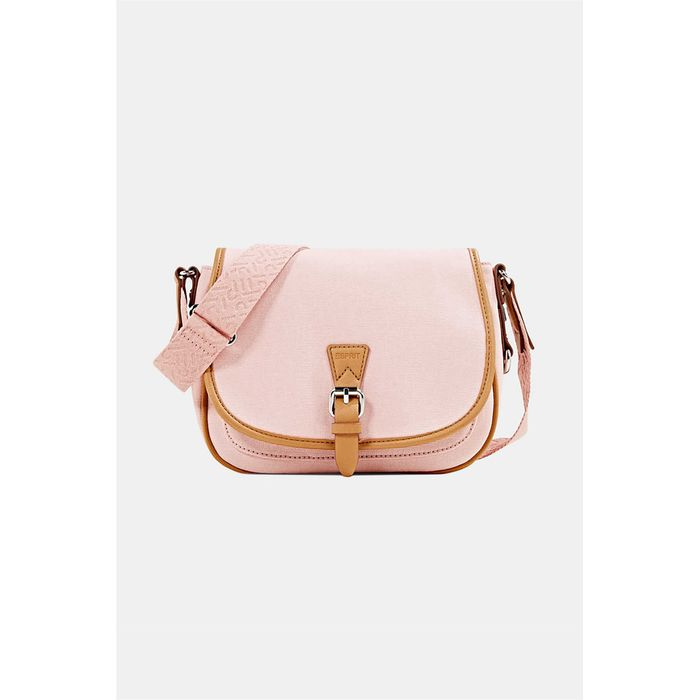 Esprit γυναικεία τσάντα crossbody με flap κλείσιμο - 040EA1O335 - Ροζ