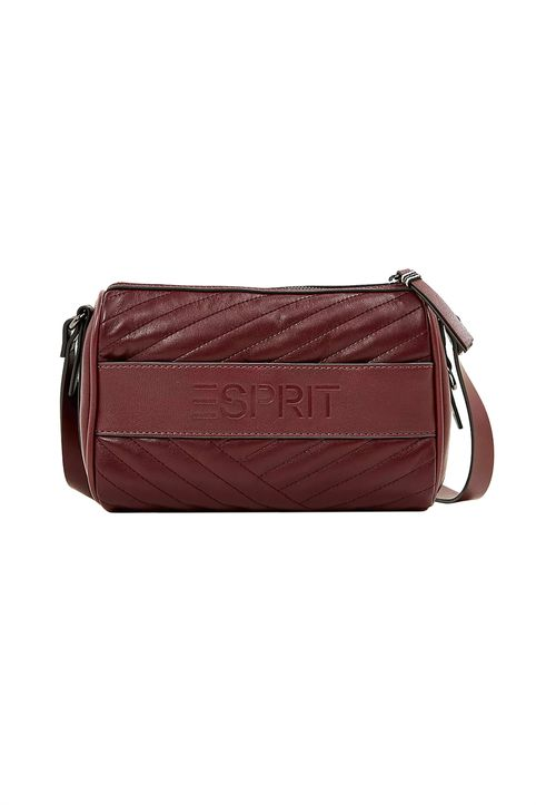 Esprit γυναικεία τσάντα crossbody με ανάγλυφο logo - 100EA1O308 - Μπορντό