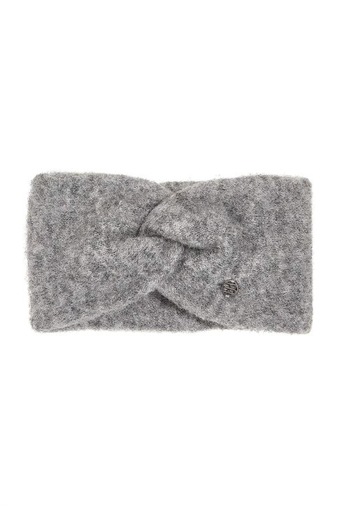 Esprit γυναικεία κορδέλα για τα μαλλιά με μεταλλικό λογότυπο - 100EA1P304 - Γκρι