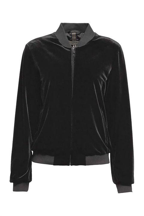 Esprit γυναικεία ζακέτα βελουτέ - 110EE1G310 - Μαύρο