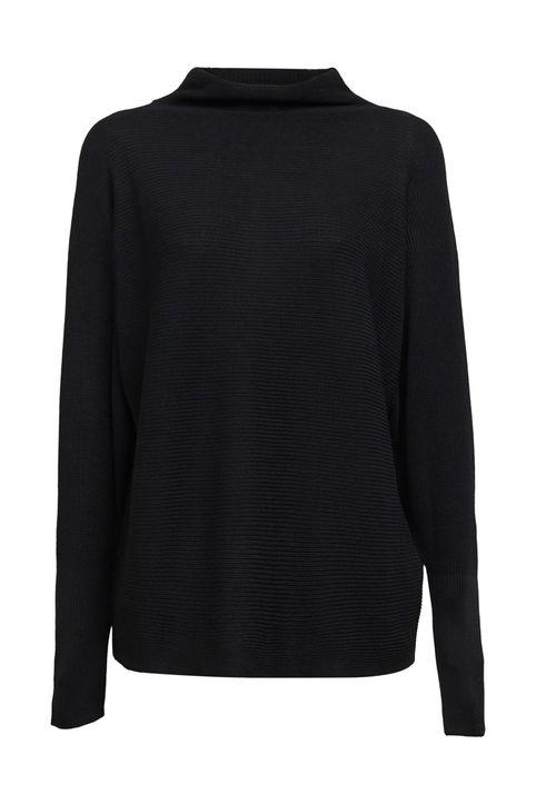 Esprit γυναικείο πουλόβερ ζιβάγκο μονόχρωμο - 110EE1I338 - Μαύρο