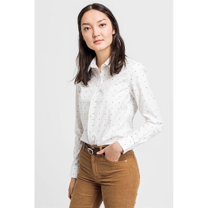 Gant γυναικείο πουκάμισο με μικροσχέδιο - 4322030 - Εκρού