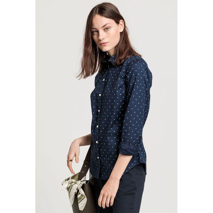 Gant γυναικείο πουκάμισο με μικροσχέδιο - 4322030 - Μπλε Σκούρο