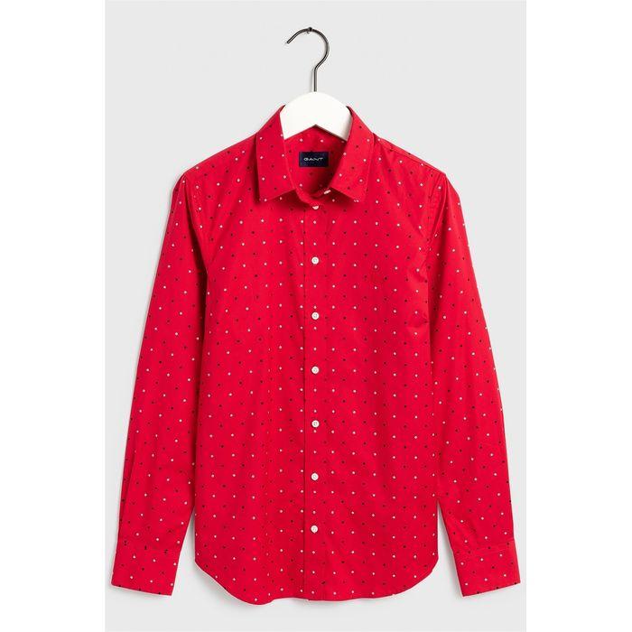 Gant γυναικείο πουκάμισο με μικροσχέδιο - 4322030 - Κόκκινο