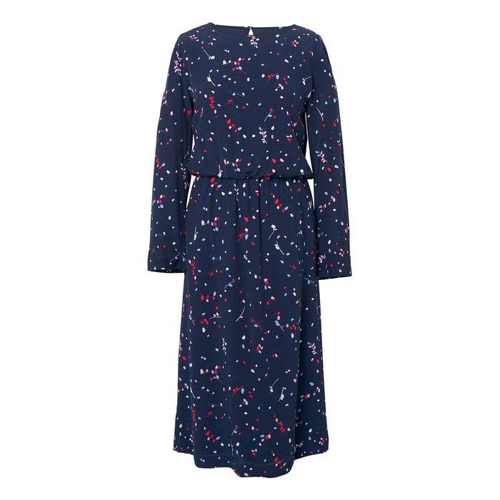 Gant γυναικείο φόρεμα Diamond G Fall Leaves Printed - 4501029 - Μπλε Σκούρο