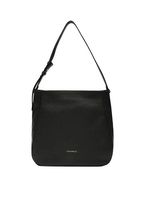 Coccinelle γυναικεία τσάντα ώμου με μεταλλικά στοιχεία