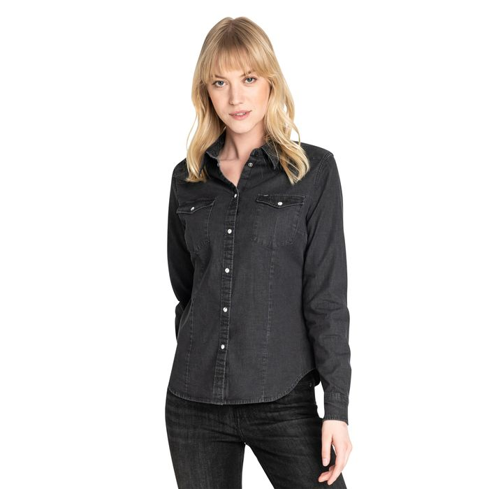 Lee γυναικείο πουκάμισο denim Western - L45FRB01 - Μαύρο