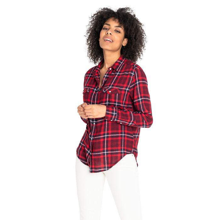 Lee γυναικείο πουκάμισο καρό με τσέπες flap