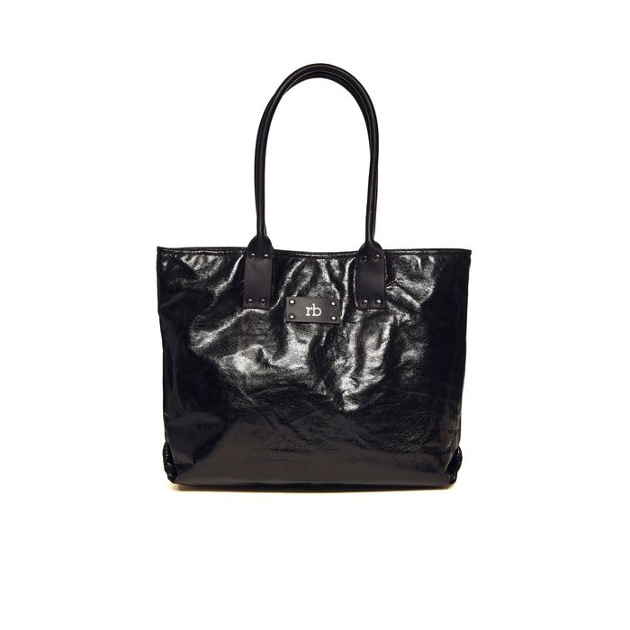 Roccobarocco γυναικεία τσάντα ώμου σε μεταλλικό χρώμα - 01GRBBS2RZ01/AD - Μαύρο