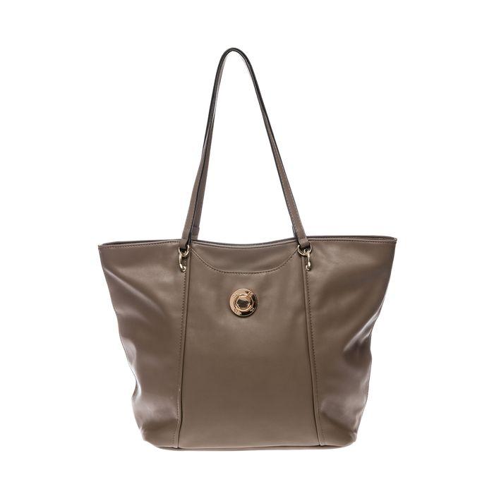 Roccobarocco γυναικεία τσάντα ώμου με μεταλλικό λογότυπο - 03HRBBS3JI01/TO - Μπεζ
