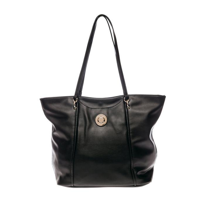 Roccobarocco γυναικεία τσάντα ώμου με μεταλλικό λογότυπο - 03HRBBS3JI01/TO - Μαύρο